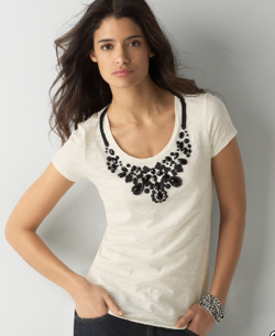 Ann Taylor Loft Embellished Tee; Photo courtesy of AnnTaylorLoft.com