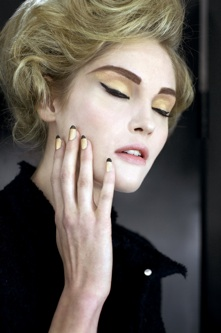Chanel Black and Gold Nails; Photo courtesy of Chanel