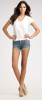 True Religion Cut-Off Denim Shorts; Courtesy of Saks.com