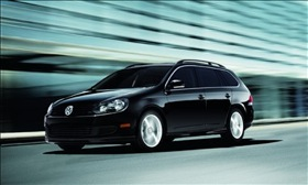 The Volkswagen Jetta Sportwagen TDI. (Photo courtesy of Volkswagen.)