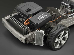 2011 Chevrolet Volt powertrain. Image courtesy General Motors.