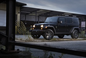 The Jeep Black Ops Edition Wrangler. (Photo courtesy of Jeep.)