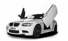 A hinge kit from LSD gives the BMW M3 gullwing doors. (Photo via AutoWeek.)