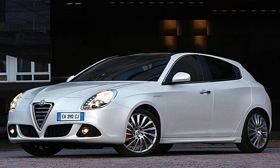 Dodge will get a car in late 2011 that uses Fiat's Compact Wide architecture that was introduced on the Alfa Romeo Giulietta, shown. (Photo courtesy of Chrysler Group.)