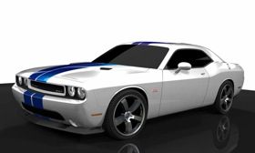 The 2011 Dodge Challenger SRT8 392 features a 392-cubic-inch Hemi V8. (Photo courtesy of AutoWeek.)