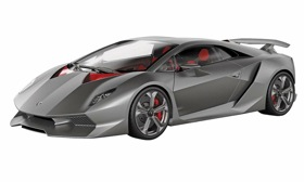 Lamborghini's Sesto Elemento: In the luxury segment, matte is the new chic. (Photo courtesy of AutoWeek.)