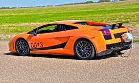 This Lamborghini Gallardo Superleggera, upfitted by Underground Racing, broke 250 mph at the Texas Mile event in March. (Photo courtesy of AutoWeek.)
