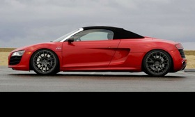 The Audi R8 Custom Spyder from Stasis Engineering will be in the Audi booth at SEMA. (Photo courtesy of AutoWeek.)