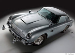 James Bond's classic 1963 Aston Martin DB5 (photo courtesy of RM Auctions)