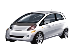 Mitsubishi i-MiEV rendering (courtesy Mitsubishi Motors).