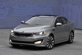 Kia hopes to build on styling momentum created by models such as the Optima sedan. (Photo courtesy of Kia.)