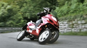 Quadro's first in a series of four-wheel motorcycles. (Photo courtesy of Quadro.)