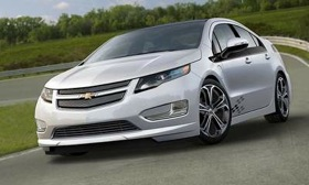 The Chevrolet Volt gets its SEMA look on with accessories from the Z-Spec parts catalog. (Photo courtesy of AutoWeek.)