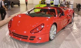 Li-ion Motors' Inizio electric sports car carries a price tag of $139,000. (Photo courtesy of AutoWeek.)