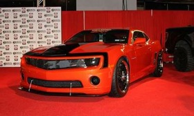 The Chevrolet Camaro was the winner of one of the inaugural SEMA awards on Tuesday. (Photo by Greg Migliore.)