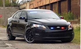 The Ford Stealth Police Interceptor will be displayed at SEMA. (Photo courtesy of AutoWeek.)