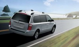 The Kia Sedona is the least expensive car to insure, according to InsWeb. (Photo courtesy of Kia.)