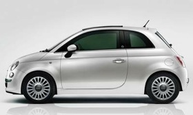 The U.S. Fiat 500: More powerful engine, softer ride, serious cupholders. (Photo from AutoWeek.)