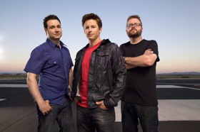 Top Gear USA hosts Adam Ferrara, Tanner Foust, and Adam Rutledge. (Photo courtesy of Top Gear USA.)