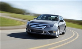 The Ford Fusion Hybrid. (Photo courtesy of Ford.)