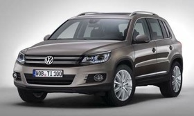 The restyled Volkswagen Tiguan adopts the grille treatment used on Chinese variants. (Image courtesy of Volkswagen.)