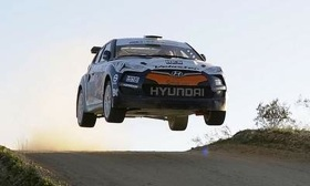 Hyundai released this teaser shot of an airborne Veloster to generate interest in its announcement at the Chicago auto show next week. (Photo courtesy of Hyundai.)