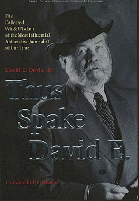 (David E. Davis, Jr.'s book Thus Spake David E. Image courtesy of the publisher.)