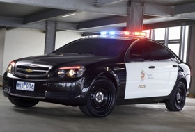 The Chevy Caprice in police guise. (Photo courtesy of GM.)