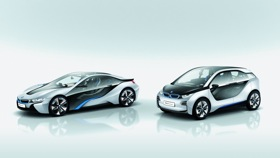 The BMW i3 and i8. (Photo courtesy of BMW.)