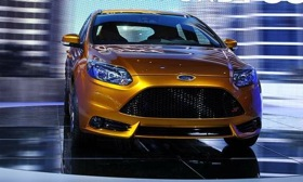 Ford may reveal more details about the Ford Focus ST, shown here at its Paris motor show reveal, at this year's Frankfurt motor show. (Image courtesy of AutoWeek.)