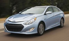 The Hyundai Sonata Hybrid. (Photo courtesy of Hyundai.)