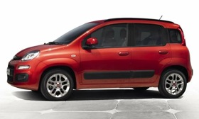 The third-generation Fiat Panda has seating for five people. (Image courtesy of Fiat.)