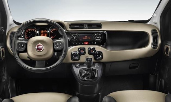 The instrument panel of the new Fiat Panda. (Image courtesy of Fiat.)