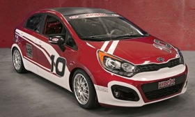 Kia Rio in race trim. (Photo via AutoWeek.)