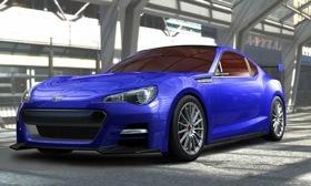 The Subaru BRZ concept uses a platform shared with Toyota. (Photo by Subaru.)