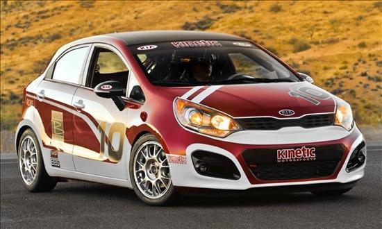The Kia Rio B-Spec racer. (Photo by Kia.)