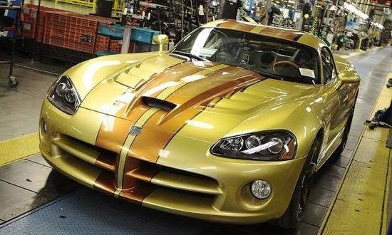 A custom Viper rolls of the line in 2010 at the Connor Avenue factory in Detroit. (Photo courtesy of Autoweek.)