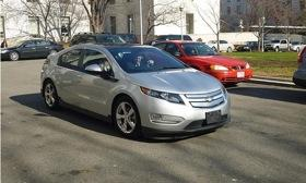 Dan Akerson in a Chevy Volt. Photo courtesy of Autoweek.