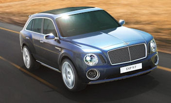 Bentley introduced the EXP 9 F SUV concept at the Geneva auto show.(photo courtesy of Bentley)