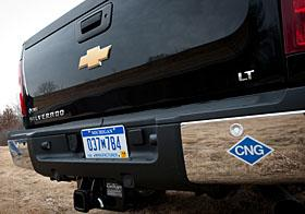 2013 Chevrolet Silverado HD powered by natural gas. Courtesy General Motors