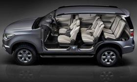 The Chevrolet Trailblazer has three rows of seats. Photo by Chevrolet.