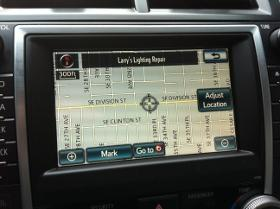 Toyota Camry navigation system.