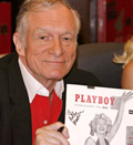 Credit: Playboy magazine founder Hugh Hefner attends a signing of 'Playboy Cover to Cover ((C) WireImage)