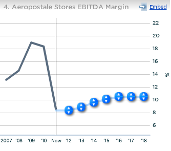 Aeropostale Stores EBITDA Margin