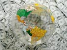 Image: Globe with money (© PhotoAlto/SuperStock)