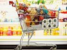 Image: Full Shopping Cart in Grocery Store© Fuse/Getty Images
