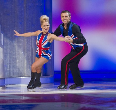 Dominic Cork (C) ITV Dancing on Ice