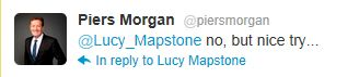 Piers Morgan's tweet