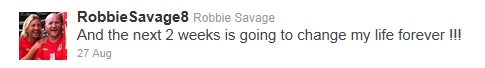 Robbie Savage tweet about the next two weeks