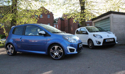 Renault Twingo Gordini TCe 100 versus Renault Twingo Renaultsport Gordini 133 in the MSN Cars car park - confused much